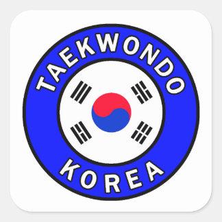 Taekwondo Square Sticker