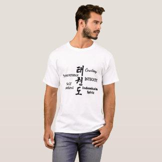 Taekwondo Tenets with Hangul Characters (Black) T-Shirt