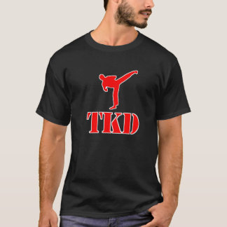 "Taekwondo ""TKD"" T-shirt (Red and White)"