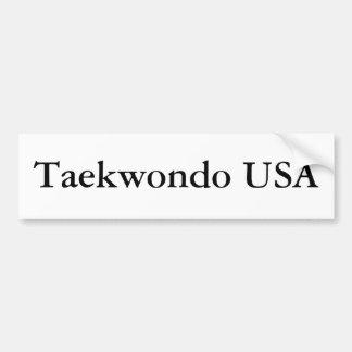 Taekwondo USA Bumper Sticker