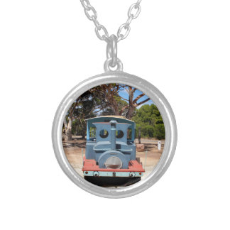 Taffy, Train Engine Locomotive 2 Silver Plated Necklace