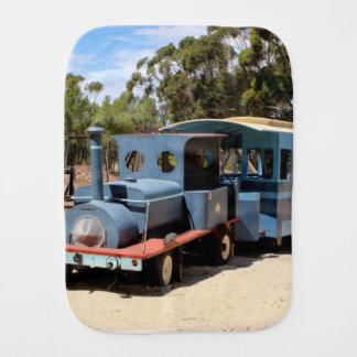 Taffy, train engine locomotive baby burp cloths