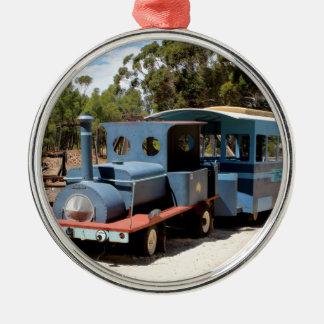 Taffy, train engine locomotive metal ornament