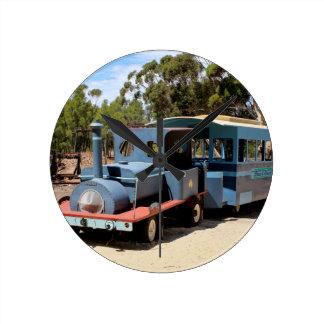 Taffy, train engine locomotive round clock