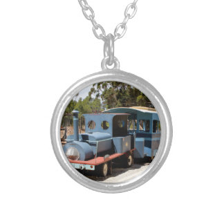 Taffy, train engine locomotive silver plated necklace