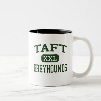 Taft - Greyhounds - Taft High School - Taft Texas Two-Tone Coffee Mug