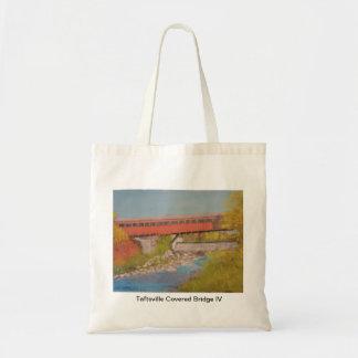 Taftsville Covered Bridge IV Budget Tote Bag