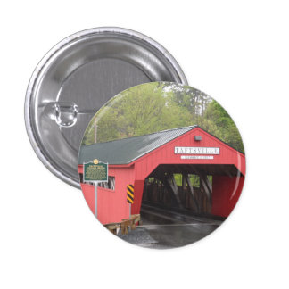 Taftsville Covered Bridge Vermont Buttons