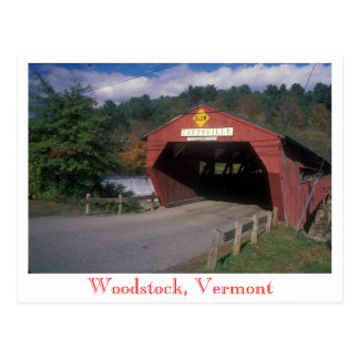 Taftsville Covered Bridge, Woodstock, Vermont Postcard