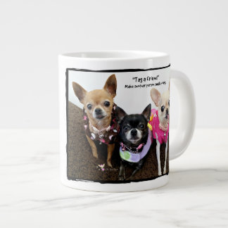 """Tag a Friend"" (1A) Large Coffee Mug"