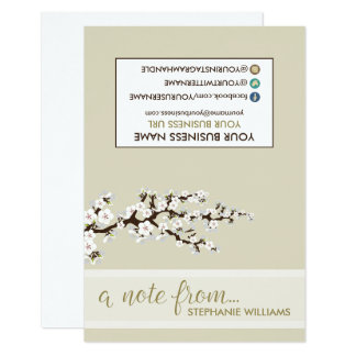 TAG Stylist Cherry Blossoms Notecards (pearl) 9 Cm X 13 Cm Invitation Card