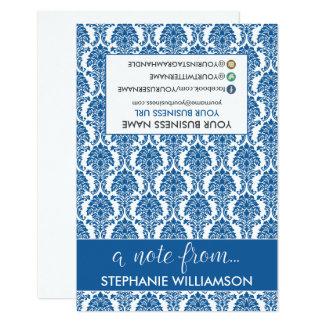 TAG Stylist Damask Notecards (blue) 9 Cm X 13 Cm Invitation Card