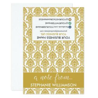 TAG Stylist Damask Notecards (gold) 9 Cm X 13 Cm Invitation Card