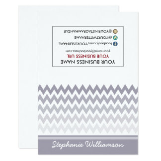 TAG Stylist Ombre Chevron Notecards (grey)