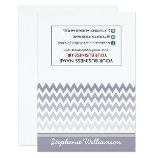 TAG Stylist Ombre Chevron Notecards (grey) 9 Cm X 13 Cm Invitation Card