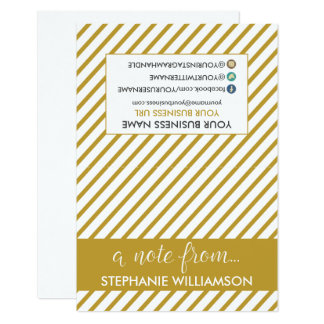 TAG Stylist Personalized Notecards (gold)