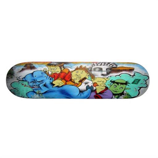 Tag Team Buddha Boyz  - Graffiti Sk8 Deck Skate Decks