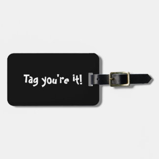 Tag you're it! Personalized Monogram Luggage Tag