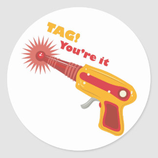 Tag! You're It Round Sticker