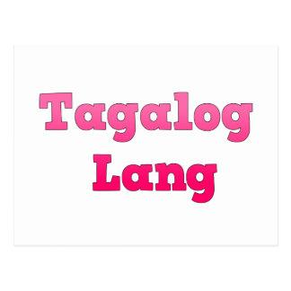 Tagalog Lang Postcard