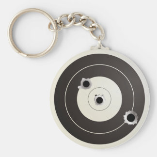 Taget shooting basic round button key ring