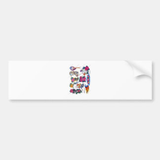 tagged bumper sticker