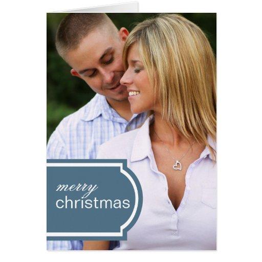 Tagged Folded Holiday Card (blue)