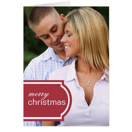 Tagged Folded Holiday Card (crimson)