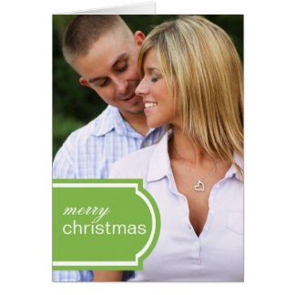 Tagged Folded Holiday Card (lime)