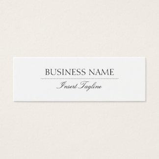 Tagline Elegant Mini Business Card