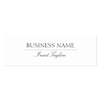 Tagline Elegant Pack Of Skinny Business Cards