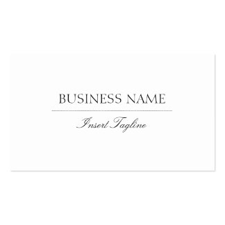 Tagline Elegant Pack Of Standard Business Cards