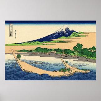 Tago Bay near Eijiri Tokaido by Katsushika Hokusai Poster