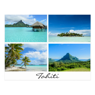 Tahiti and French Polynesia landscapes postcard