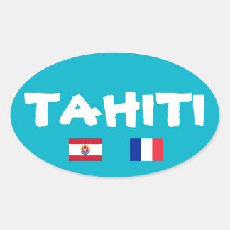 Tahiti Euro-Style Oval Sticker