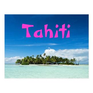 Tahiti island postcard