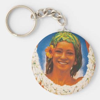Tahiti ~ La Perle du Pacifique Basic Round Button Key Ring