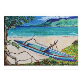 Tahiti Outriggger Postcard