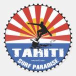 tahiti surfing paradise sticker