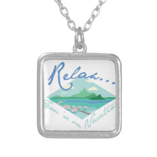 Tahiti Vacation Silver Plated Necklace