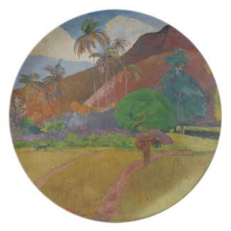Tahitian Landscape, 1891 (oil on canvas) Party Plate