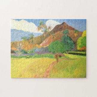 Tahitian Landscape, Mountains Tahiti, Paul Gauguin Jigsaw Puzzle