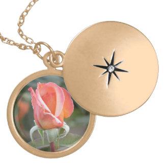 Tahitian Sunset Rose Necklace