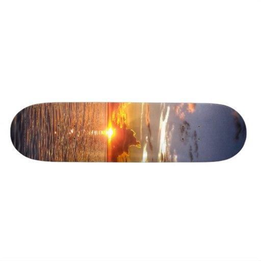 TAHITIAN SUNSET SKATE BOARD