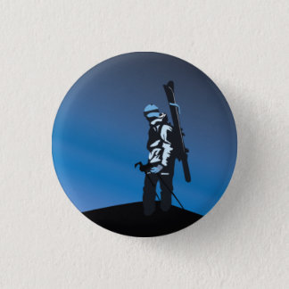 tahoe backcountry looking out 3 cm round badge