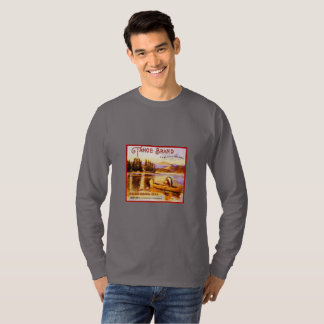 Tahoe Indian Canoe Orange Crate Art T-shirt