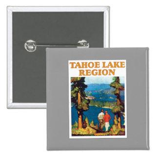 Tahoe Lake Region Vintage Pinback Buttons