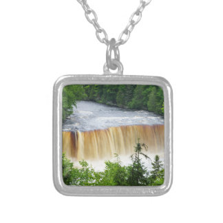 Tahquamenon Upper Falls Silver Plated Necklace