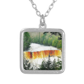 Tahquamenon Upper Falls Upper Peninsula Michigan Silver Plated Necklace