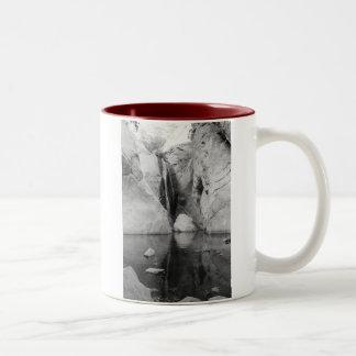 Tahquitz Canyon Waterfall, Palm Springs California Two-Tone Coffee Mug